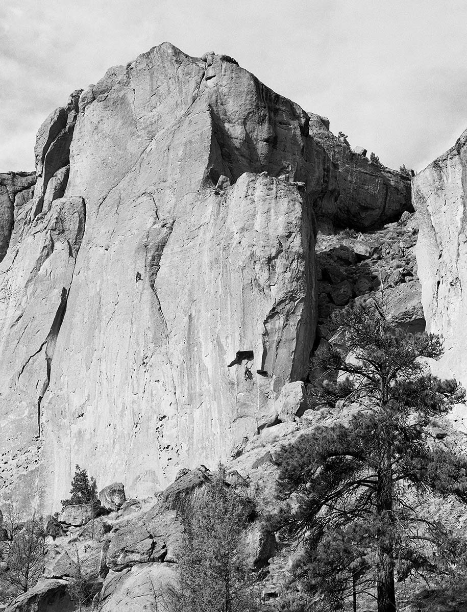 two climbers smith rock medium format